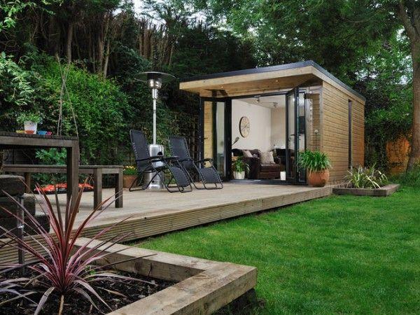 Combined Indoor/outdoor Garden Living Room And Garden Office In Surrey.  Contemporarygardenrooms.com
