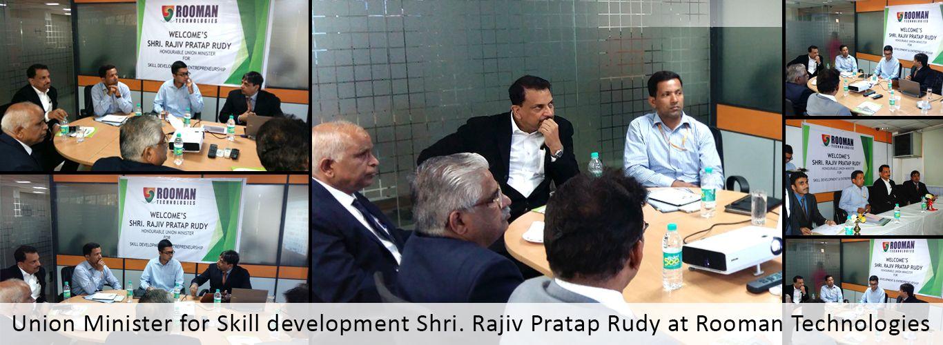 Union #Minister for #Skill #development Shri. #Rajiv #Pratap #Rudy at #Rooman #Technologies http://bit.ly/1ezXHOJ