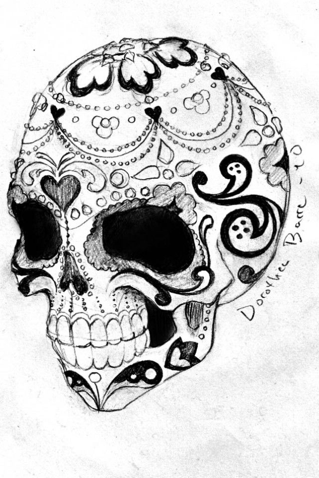Sugar Skull Tattoos Designs Skull tattoo design, Sugar