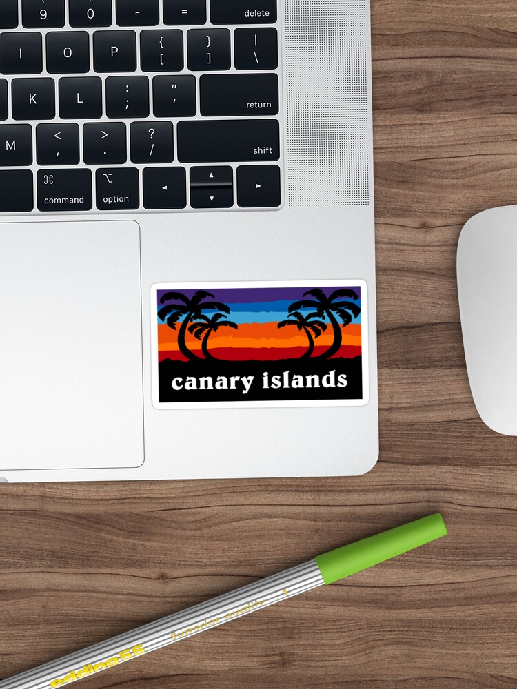 'Canary Islands Spain Sunset Palm Tree Outdoor Surfing Surf Cruise Vacation Gift Ideas' Sticker by letourneau41 #cubaisland