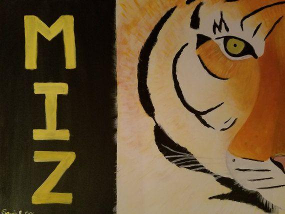 Mizzou Painting Tiger Mascot Wall Art By StudioSRC Home Decor Office