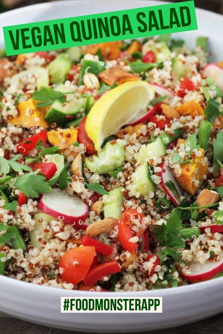 Veggie Quinoa Salad Vegan Best Vegan Recipes In 2019