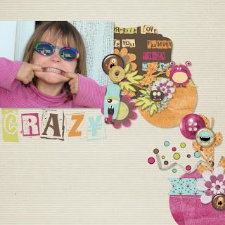 Kit Crazy Monsters, template 2 by Dagi, photo RAK Xuxper, LO by Toupie