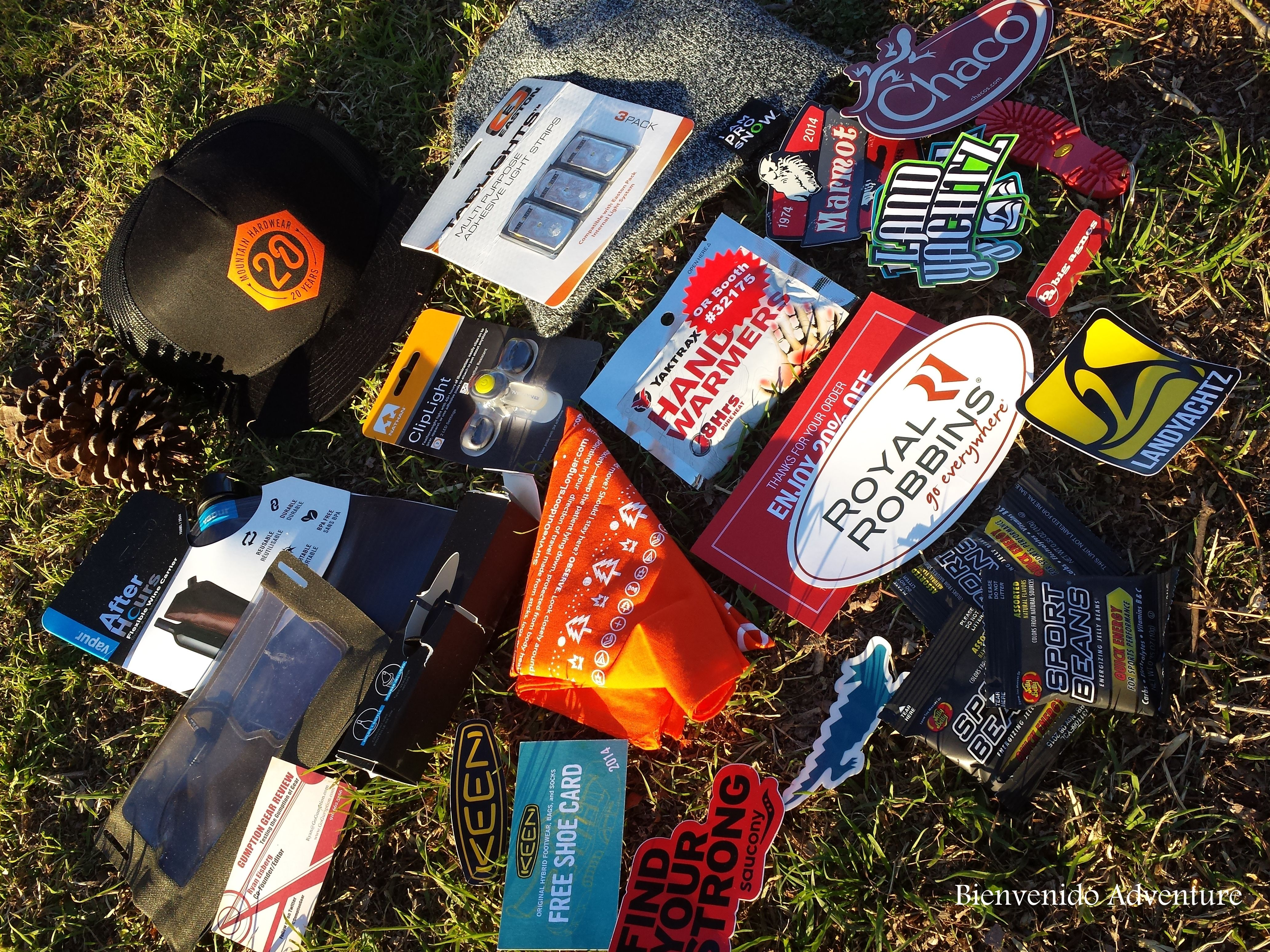 Check out the Gumption Gear Review Swag Box full of goo s from