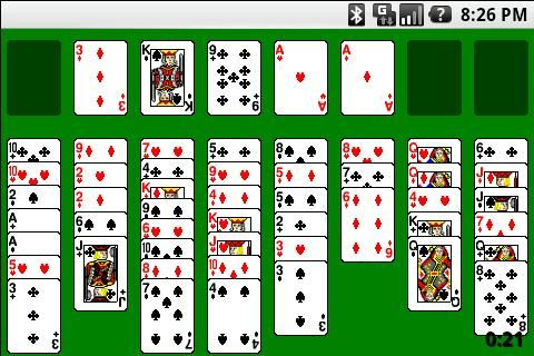 Regular, Spider, Freecell, Forty Thieves, free game app