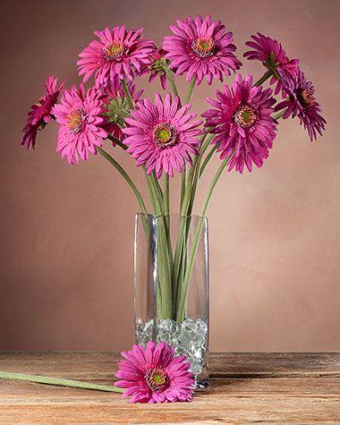 Gerbera Daisy Silk Flower Stem Silk Flower Stems Pinterest