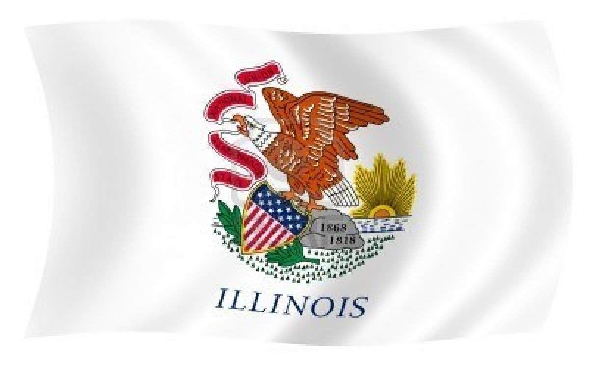 17. Illinois Flag, Us states flags, U.s. states
