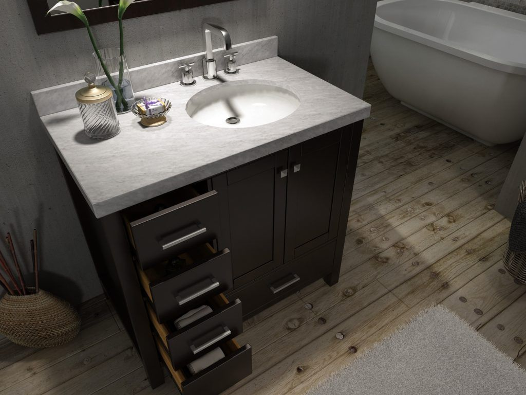 Inch Bathroom Vanity with Offset Sink Bathroom Cabinets