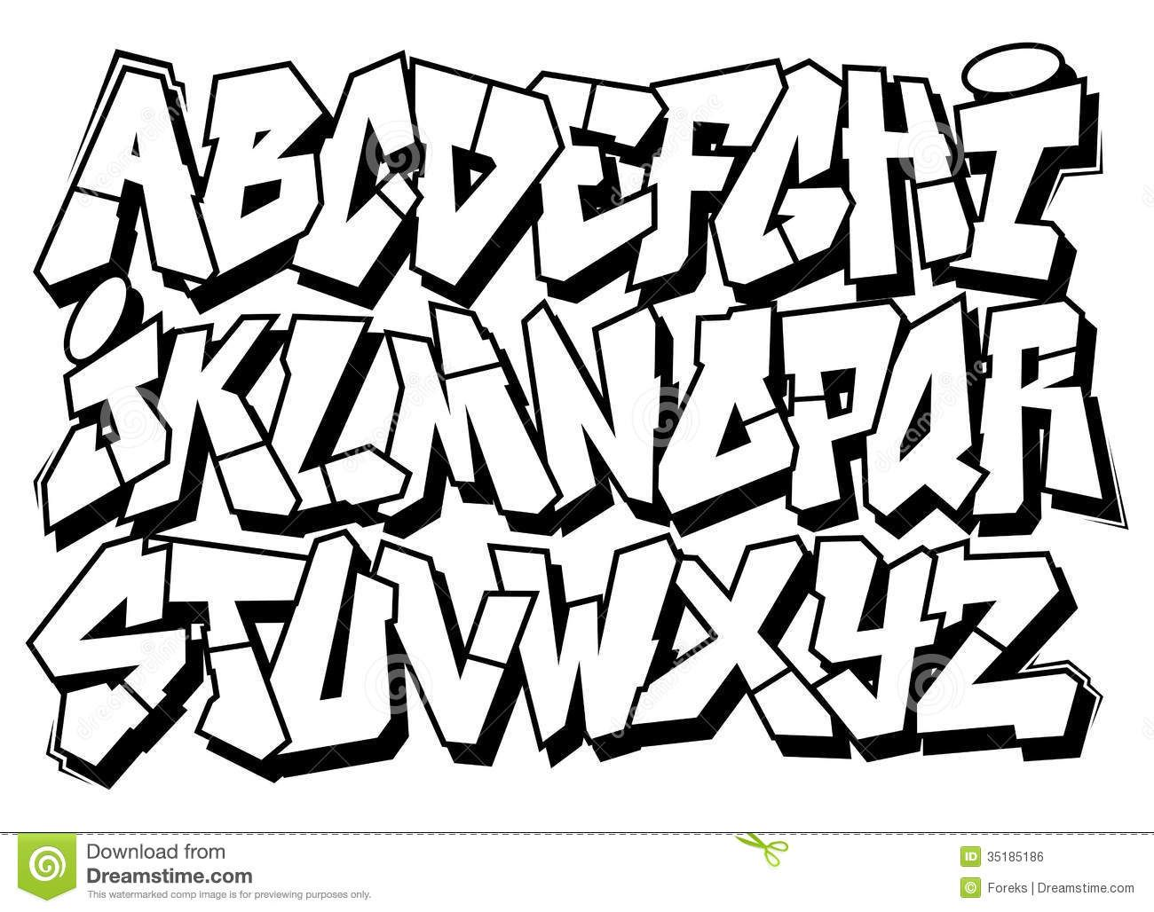 Classic street art graffiti font type alphabet download from over 33 million high quality stock photos images vectors sign up for free today