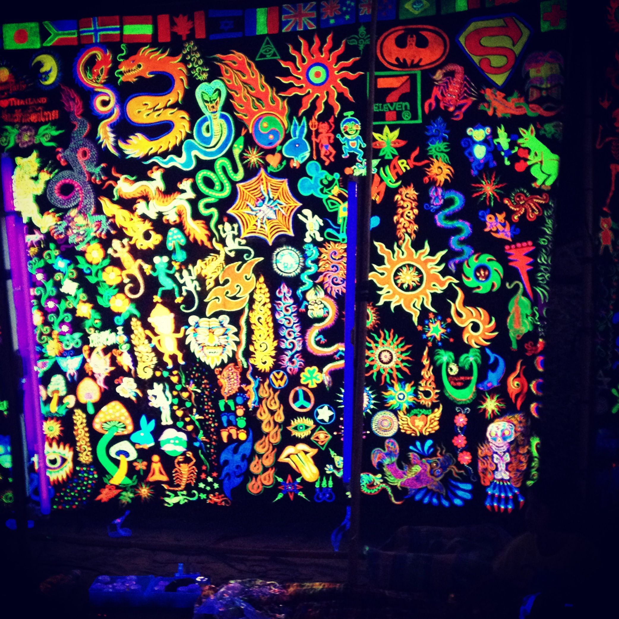 Thailand Full Moon Party Uv Paint Arts And Crafts ️