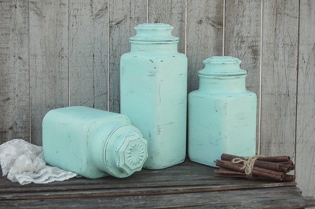 Mint Green Kitchen Canister Set The