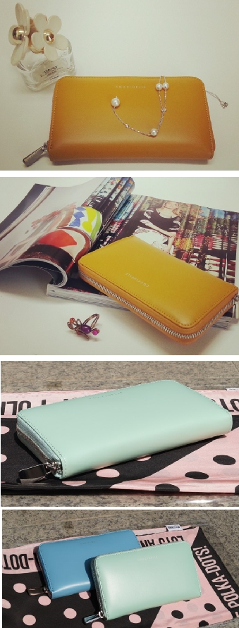 COCCINELLE  MILLY Yellow, Mint, Blue Wallet /코치넬리 여자장지갑 밀리 옐로우