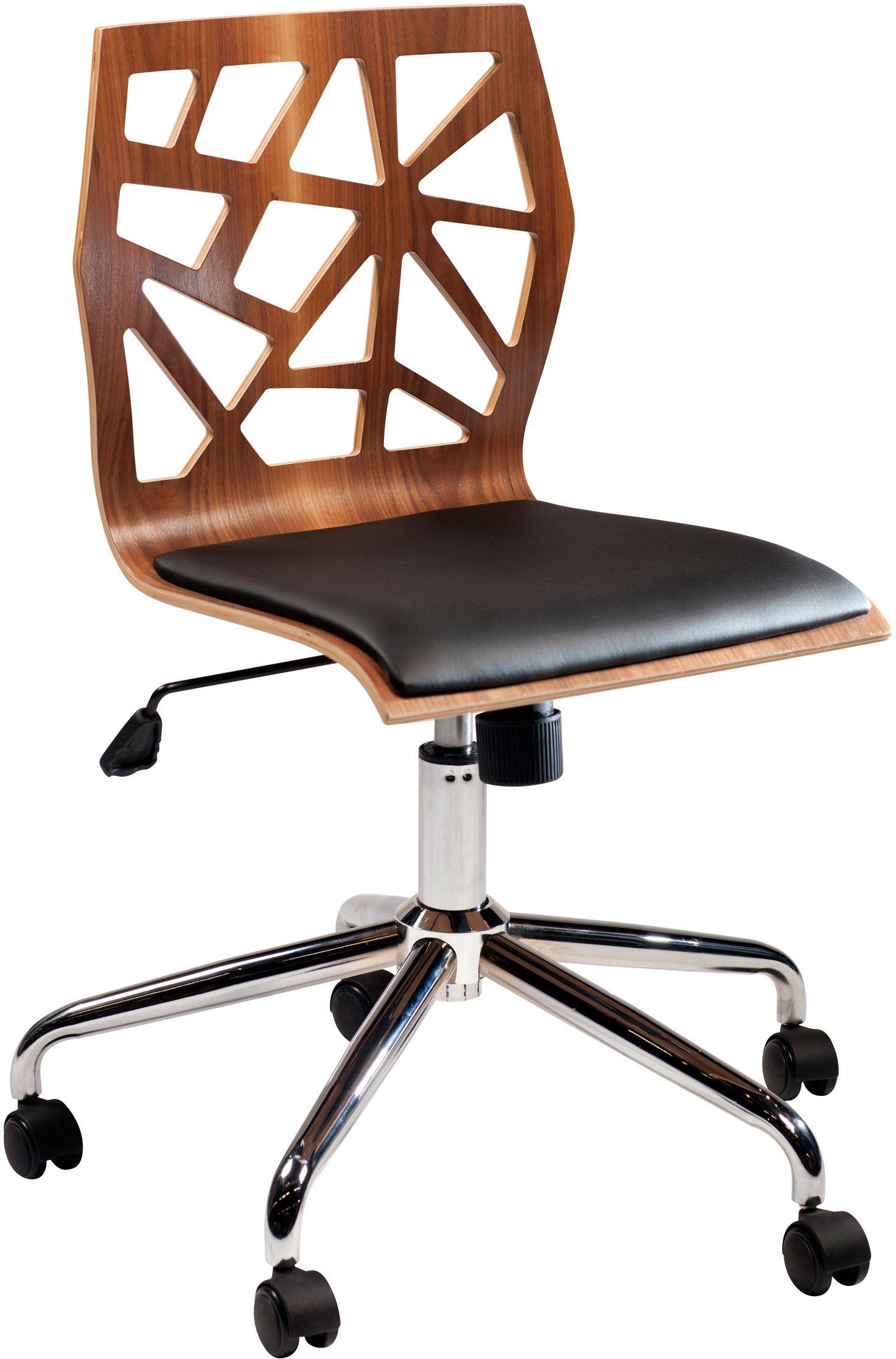 Funky bureaustoel walnoot dan form