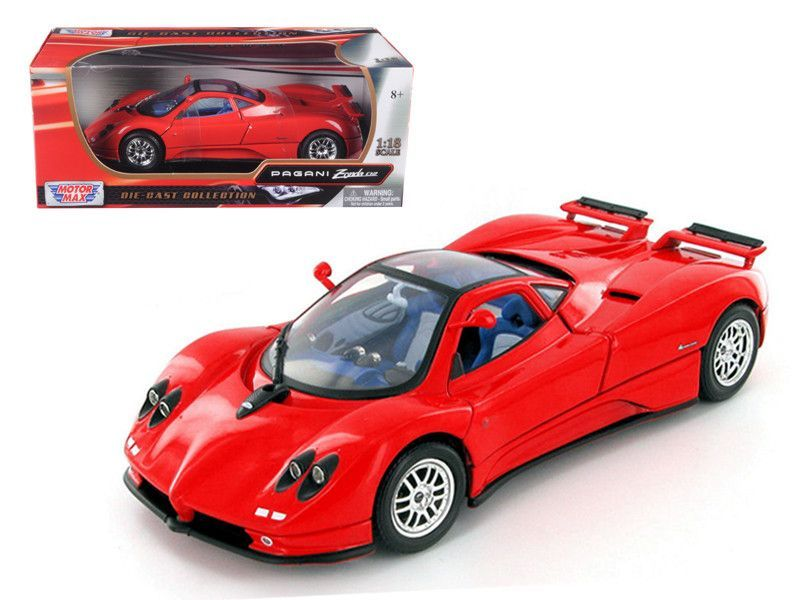 Pagani Zonda C12 Red 1 18 Diecast Model Car By Motormax Pagani