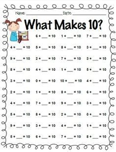 Addition – Making 10 FREE Printable Worksheets – Worksheetfun