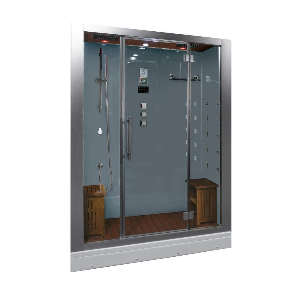 Ariel 59 In X 32 In X 87 4 In Steam Shower Enclosure Kit In