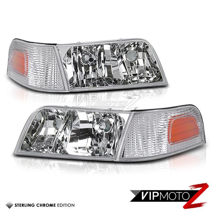 Ford Crown Victoria 98 11 Crystal Clear L R Headlight Corner Per Parking Lamp Vipmotoz