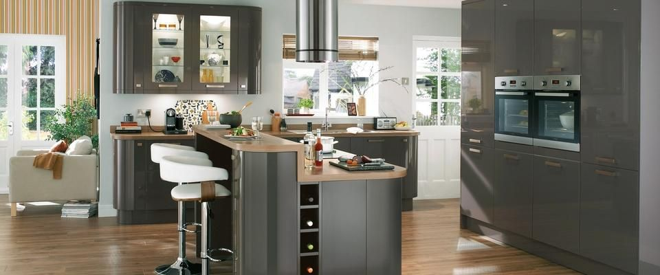 Glendevon graphite kitchen range kitchen families for Kitchen ideas howdens