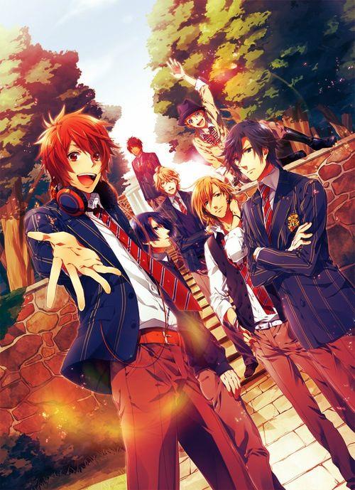 STARISH : Otoya Ittoki, Tokiya Ichinose, Ren Jinguji, Masato Hijirikawa, Syo Kurusu, Natsuki Shinomiya and Cecil Aijima