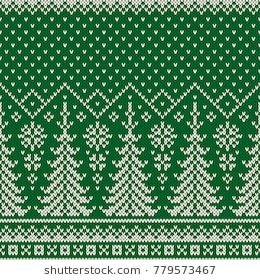 2e0ecb0ac50ae Winter Holiday Seamless Knitted Pattern with a Christmas Trees. Knitting  Sweater Design. Wool Knit Texture