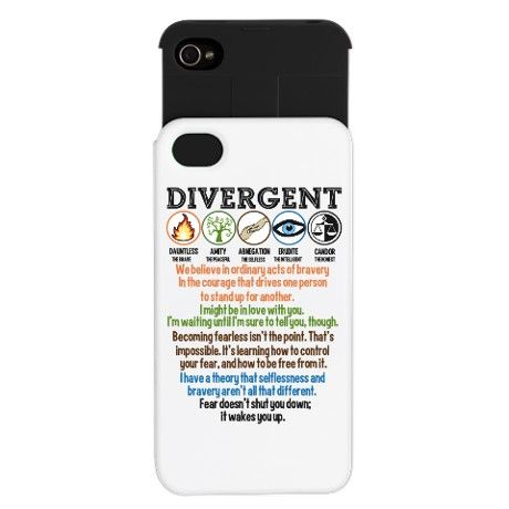 Divergent Symbols Quotes Iphone Wallet Case Phone Cases