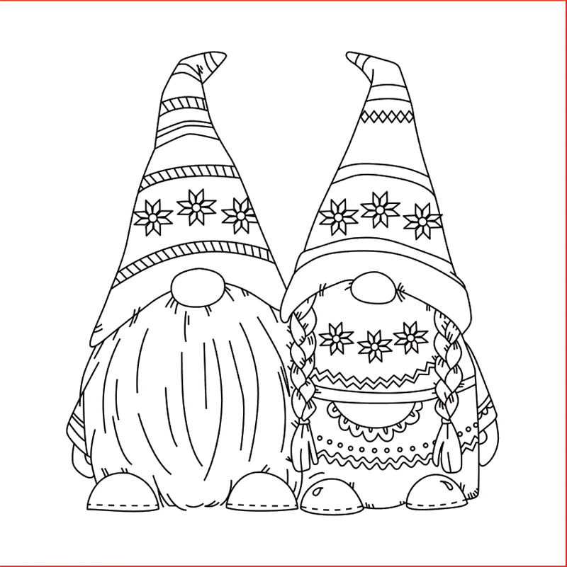 10x10 Clear Stamps on AliExpress in 2020 Gnome patterns
