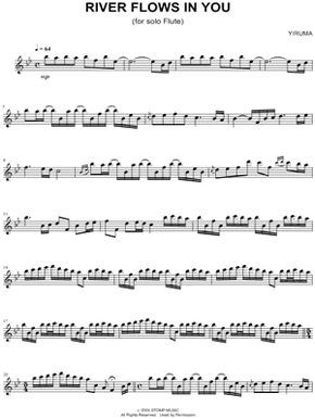 Yiruma River Flows In You Sheet Music Flute Solo Download