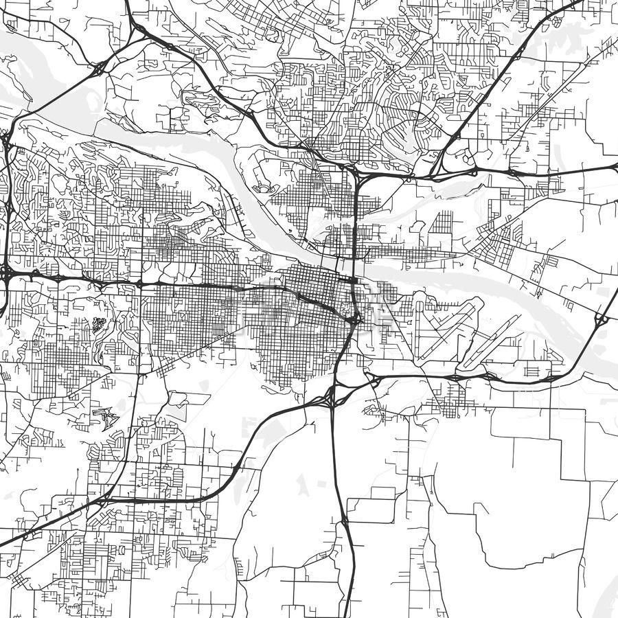 Little Rock, Arkansas - Area Map - Light in 2019   Maps ...