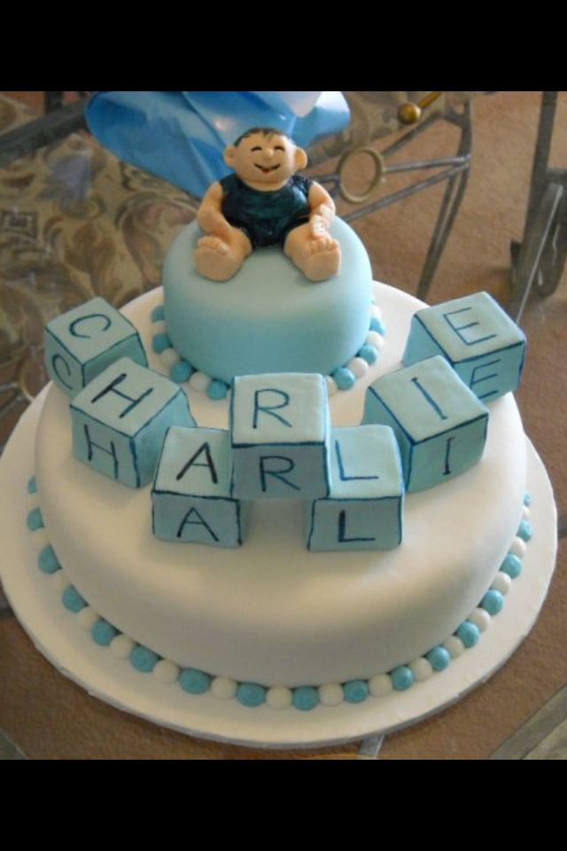 1st Birthday Naming Day Cake For A Boy Cakes Cake