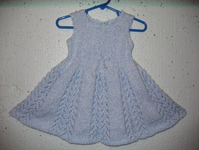 Knitting Patterns Lace Dress : Lacy Tunic / Baby Dress Knitting Pattern Free knitting, Knit patterns and L...