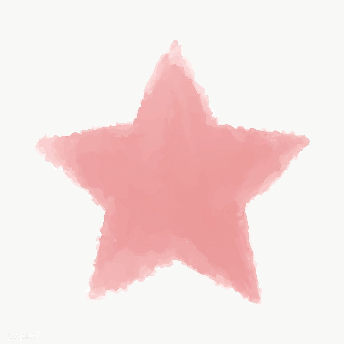 Red Watercolor Star Geometric Transparent Png Free Image By Rawpixel Com Ningzk V Geometric Star Star Illustration Watercolor Heart