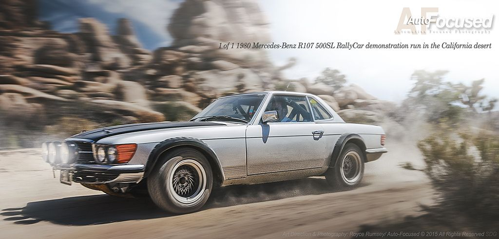 Mercedes-Benz R107 Rally Car, California Desert by Auto-Focused on ...