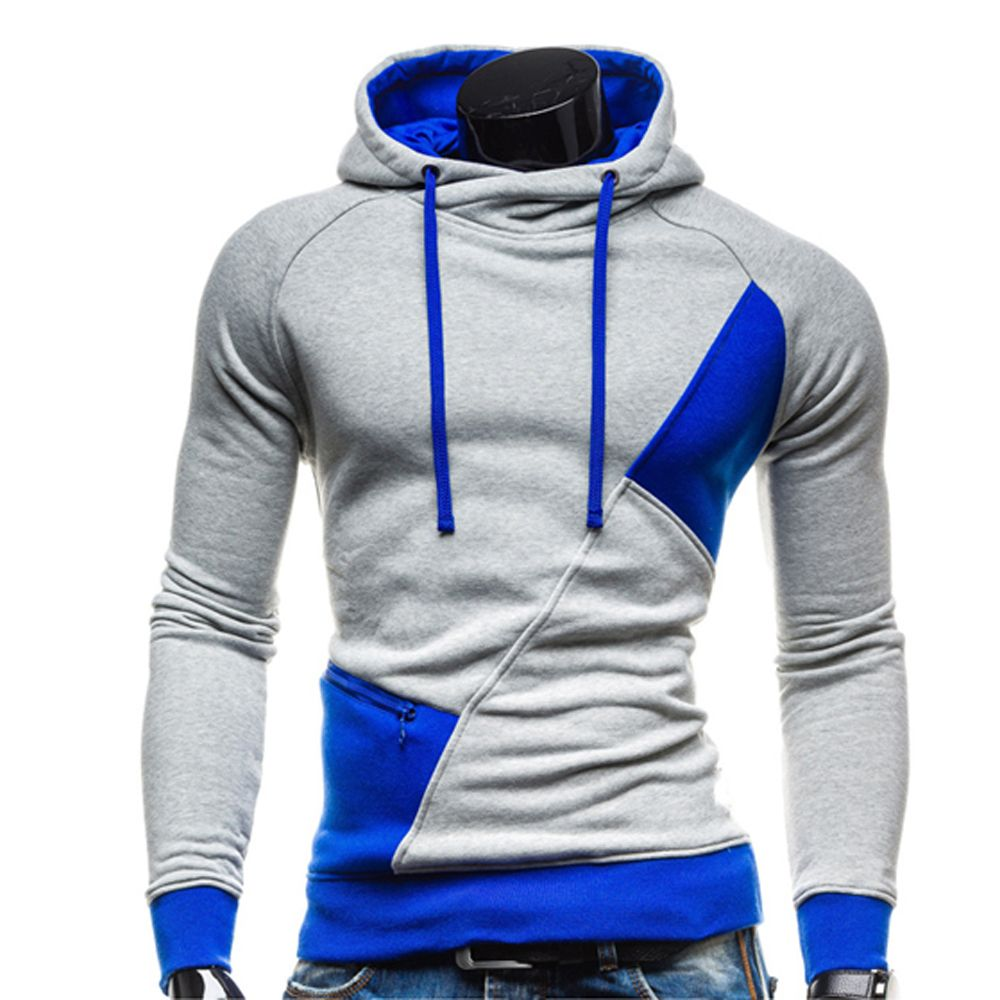 New Arrival Spring Autumn Men's Fashion Casual Hoddies Sweatshirts Patchwork Men Leisure Hoody Men Tracksuit Sportswear #Affiliate