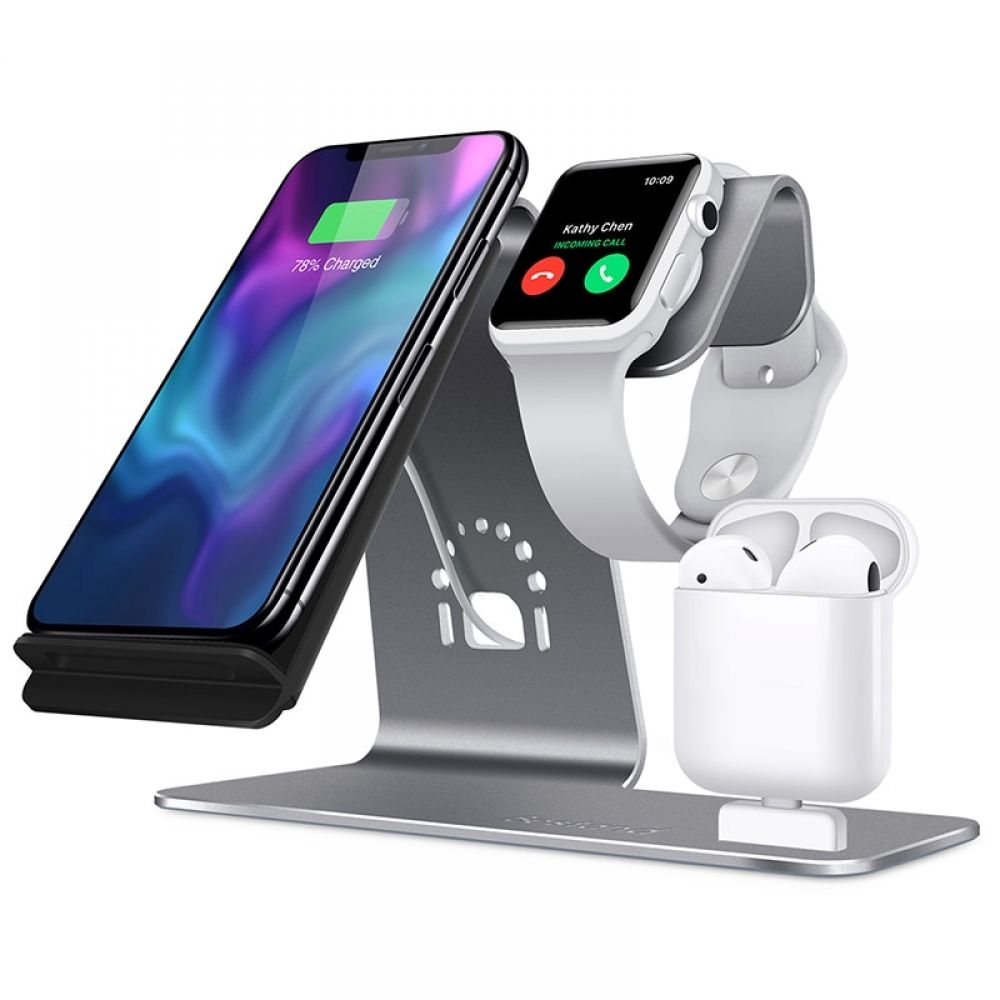3in 1 Fast Wireless Charger Bracket For Iphone Xs Apple Watch Airpods Wireless Charging For Iphone Xsmas Xr 8plus Samsung S9 S8 In Wireless Chargers From Cellp Wireless Charger T Mobile Phones Apple Watch Iphone