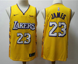 2020 Men S Los Angeles Lakers 23 Lebron James Yellow Nike City Edition Swingman Jersey With The In 2020 Los Angeles Lakers Los Angeles Lakers Basketball Lebron James
