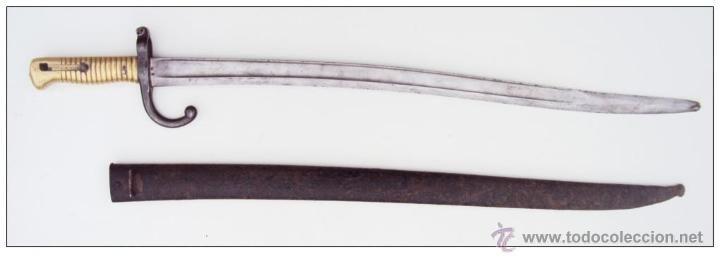 BAYONETA FRANCESA CHASSEPOT (Militar - Armas Blancas Originales Fabricadas entre 1851 y 1945)