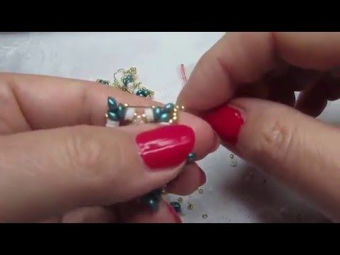 Tutorial orecchini Velia - YouTube
