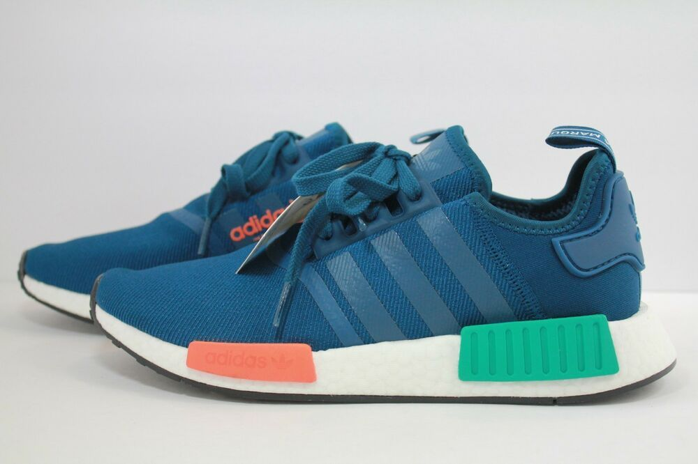 various colors 3f63a e4e8d Adidas NMD R1 Blue Night / Energy Orange $80 Shipped on eBay ...