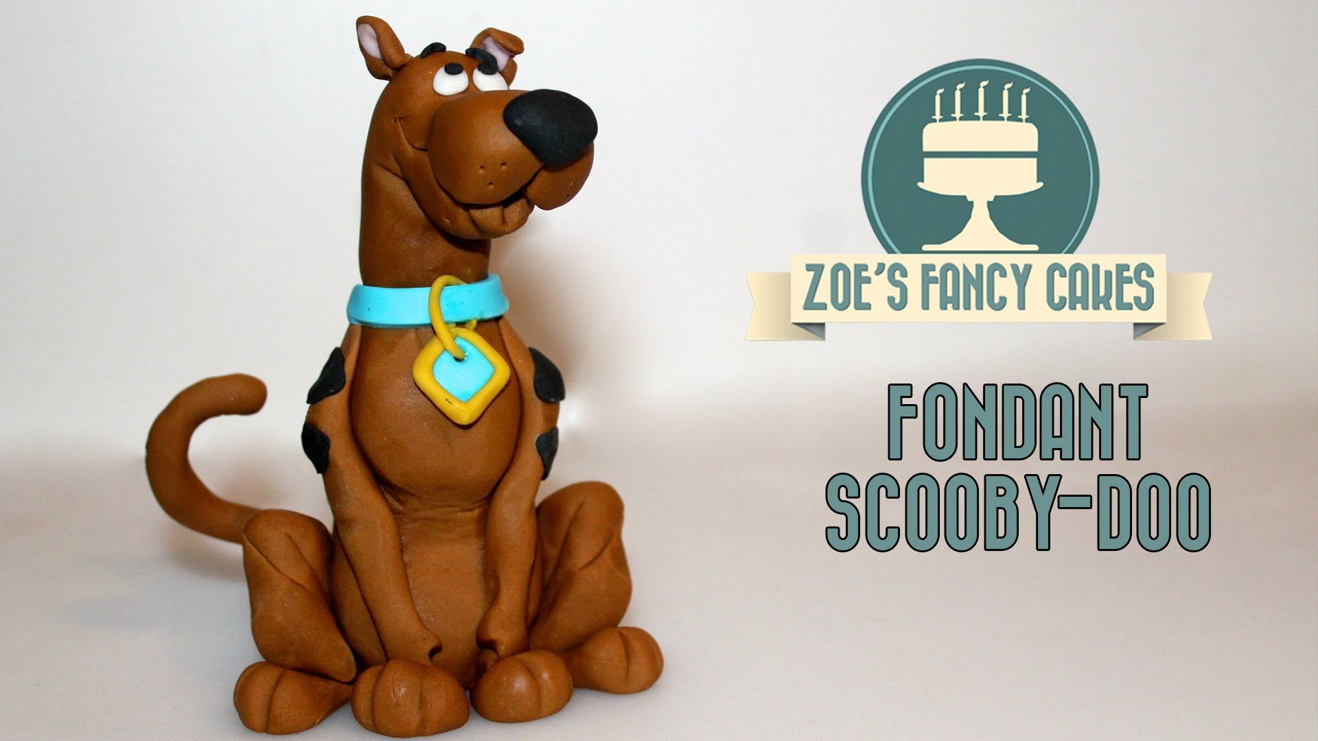 Cake Decorating Animal Figures Scooby Doo Fondant Cake Topper Tutorial In This Scooby Doo Cake