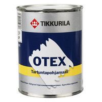 Otex tartuntapohjamaali. Soveltuu pohja- ja välimaaliksi sekä uusille että aikaisemmin maalatuille pinnoille. Otex tarttuu hyvin erikoistartuntaa vaativiin pintoihin kuten lasiin, kaakeliin, lasikuituun, PVC-muoviin, alumiiniin, sinkittyyn peltiin sekä alkydi-ja katalyyttimaalattuihin pintoihin.