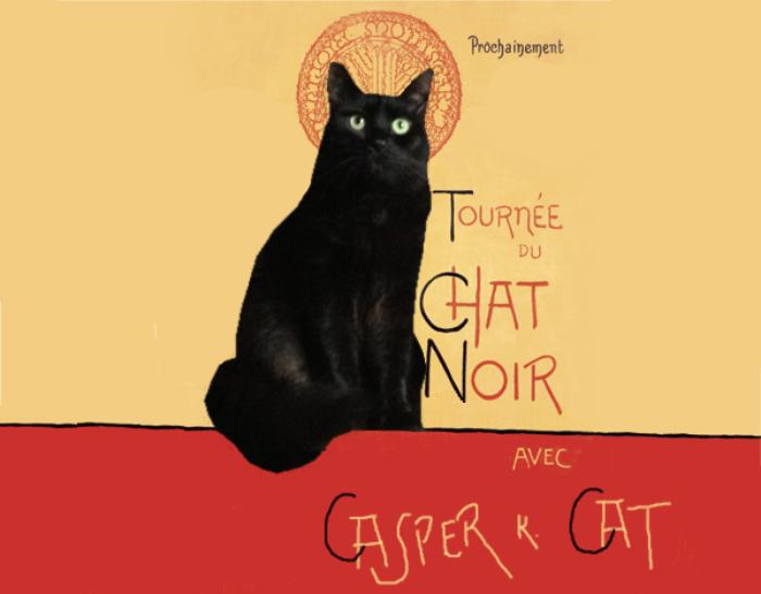 La Tournee Du Chat Noir Casper K Cat Tournee Du Chat Noir Le Chat Noir Chat Noir