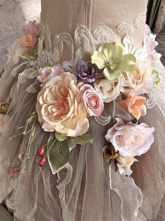 RESERVED for Jill  Handmade Wedding Dress Mini Plus von Arabescque