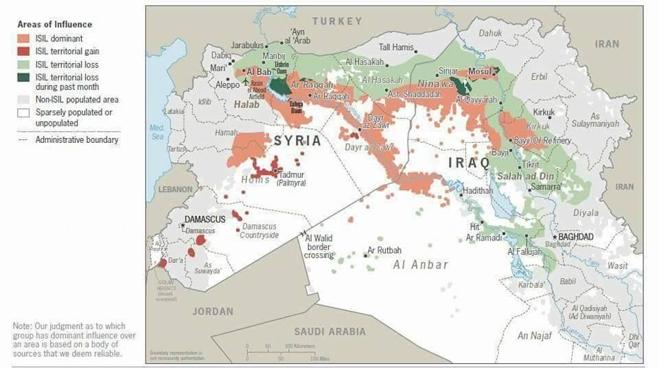 DAMASCUS, SYRIA - A map produced by IRT Global tracks the expansion ...