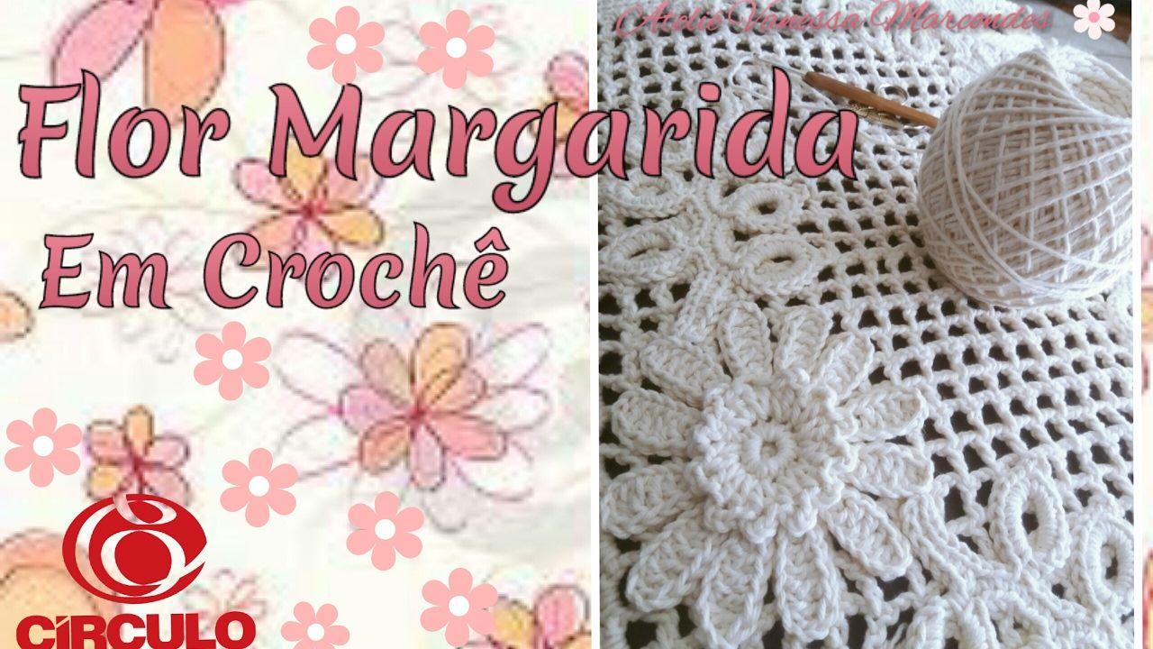 Flor Margarida Em Croch Para Aplicao Por Vanessa Marcondes Rose Crochet Flores Crochetflowers Pretty Flower Diagram Explore Irish Flowers And More