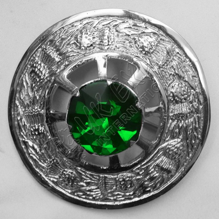 Emerald Stone Brooches | Plaid Brooches