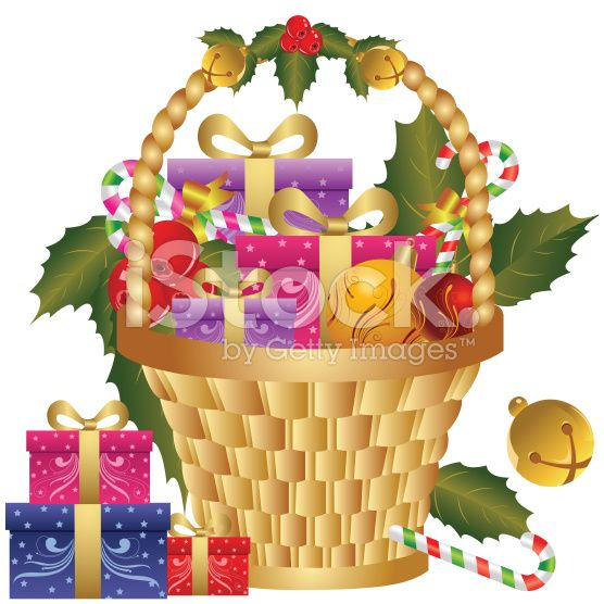christmas baskets clipart - Google Search (With images) | Christmas house lights, Christmas ...