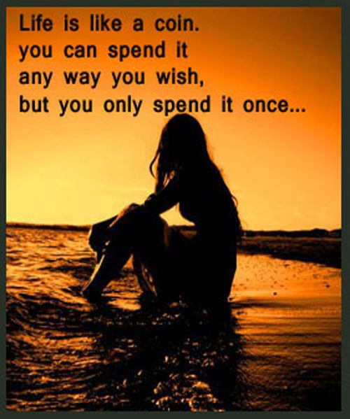 Life Is Like A Coin Life Quote Mantras Life Quotes Love
