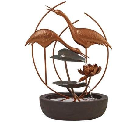 199.99-Canyon Creek Copper Cranes Fountain | 55DowningStreet.com   RESIN & METAL 31HT