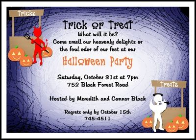 include an angel and a devil on your ghostly Halloween invitation – Kids Halloween Party Invitation Wording