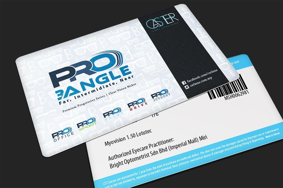 freelance Warranty card that customers will keep! for optical lens ...